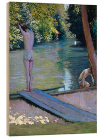Quadro de madeira  Bathers on the banks of the Yerres - Gustave Caillebotte