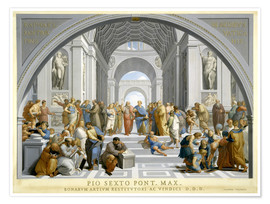 Póster Premium  School of Athens (after Raphael) to 1771-79 - Giovanni Volpato