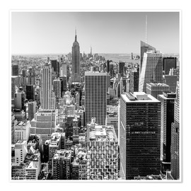Póster Premium  Top Of The Rock - New York City (monochrome) - Sascha Kilmer