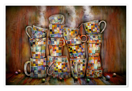 Póster Premium Coffee Time with Artwork