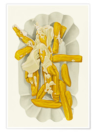 Póster Premium  French fries with mayonnaise - Dieter Ziegenfeuter
