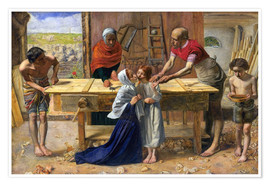 Póster Premium  Christ in the House of His Parents - Sir John Everett Millais