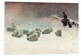 Quadro em PVC  The Cheerless Winter's Day - Joseph Farquharson