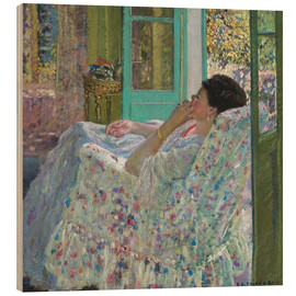 Quadro de madeira  Afternoon, Yellow Room - Frederick Carl Frieseke