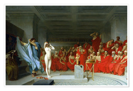 Póster Premium  Phryne before the Areopagus - Jean Leon Gerome