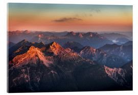 Quadro em acrílico  Alps Panorama from Zugspitze at Sunrise - Andreas Wonisch