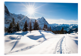 Quadro em acrílico  Winter scenery at Grindelwald - Peter Wey