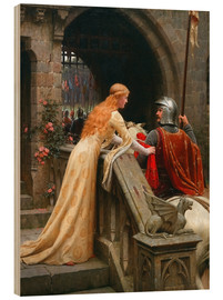 Quadro de madeira  God Speed - Edmund Blair Leighton