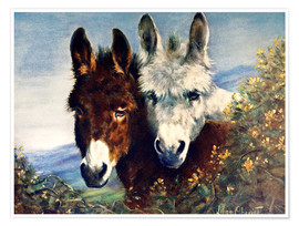 Póster Premium  The Wise Ones (Donkeys) - Lilian Cheviot