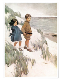 Póster Premium  Baa Baa Black Sheep - Jessie Willcox Smith