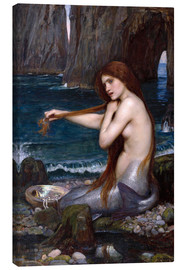 Quadro em tela  A mermaid - John William Waterhouse
