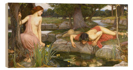 Quadro de madeira  Eco e Narciso - John William Waterhouse