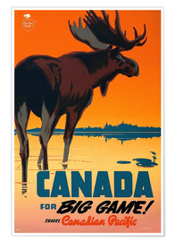 Póster Premium  Canada travel for big game - Travel Collection