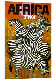 Quadro em PVC  Africa Fly TWA - Travel Collection