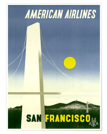 Póster Premium  American Airlines San Francisco - Travel Collection
