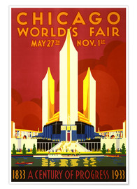 Póster Premium  Chicago worlds fair - Travel Collection
