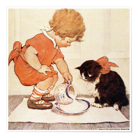 Póster Premium  A Little Childs Book of Stories 2 - Jessie Willcox Smith