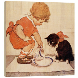 Quadro de madeira  A Little Childs Book of Stories 2 - Jessie Willcox Smith