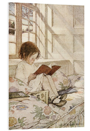 Quadro em PVC  Picture books in winter - Jessie Willcox Smith