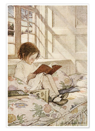 Póster Premium  Picture books in winter - Jessie Willcox Smith