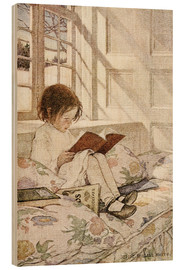 Quadro de madeira  Picture books in winter - Jessie Willcox Smith