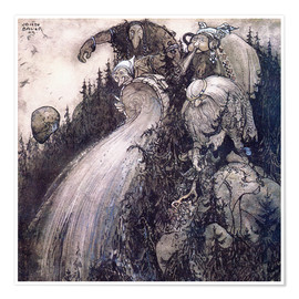 Póster Premium  Troll of the forest - John Bauer