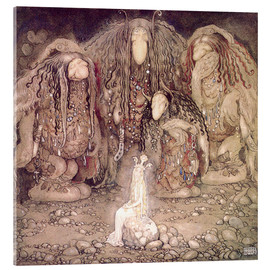 Quadro em acrílico  The Princess and the Trolls - John Bauer
