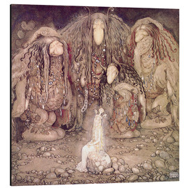 Quadro em alumínio  The Princess and the Trolls - John Bauer