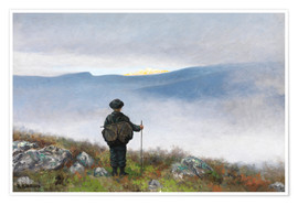 Póster Premium  Far, far away Soria Moria Palace shimmered like Gold - Theodor Kittelsen