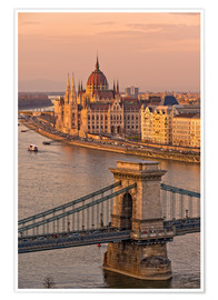 Póster Premium Budapest late afternoon