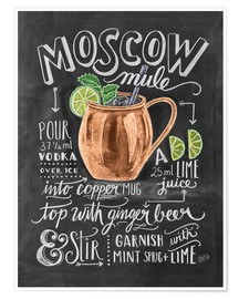 Póster Premium  Receita Moscow Mule (inglês) - Lily & Val