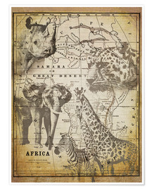 Póster Premium  The Spirit of Africa - Andrea Haase
