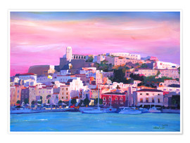 Póster Premium  Ibiza Old Town and Harbour - Pearl Of the Mediterranean Sea - M. Bleichner