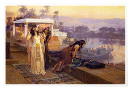 Póster Premium  Cleopatra on the terraces of philae - Frederick Arthur Bridgman