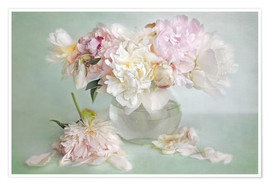 Póster Premium  still life with peonies - Lizzy Pe