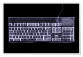 Póster Premium  Computer keyboard, simulated X-ray - Mark Sykes