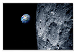 Póster Premium Earth from lunar orbit