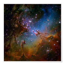 Póster Premium  Eagle Nebula, optical image - Robert Gendler