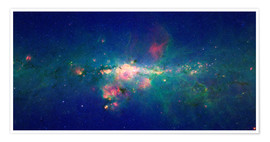 Póster Premium  Milky Way (infrared image) - NASA