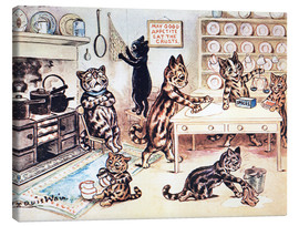Quadro em tela  The Picture Book of Kittens 13 - Louis Wain