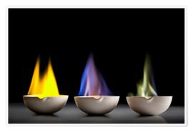 Póster Premium  Flame tests
