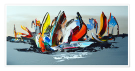 Póster Premium  Abstract sailing - Theheartofart Gena