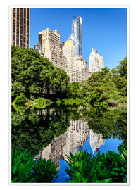 Póster Premium  New York City - Central Park South (The Pond) - Sascha Kilmer