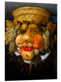 Quadro em PVC  Portrait of a man from fruits - Giuseppe Arcimboldo
