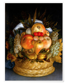Póster Premium  Portrait of a man from fruits - Giuseppe Arcimboldo