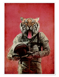 Póster Premium  Space tiger - Durro Art