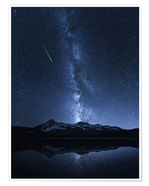 Póster Premium  Galaxies Reflection - Toby Harriman