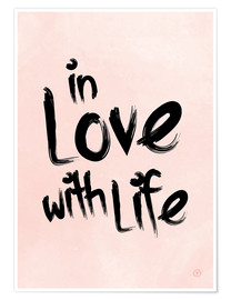 Póster Premium  In love with life - m.belle