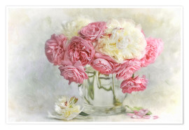 Póster Premium  roses and peonies - Lizzy Pe