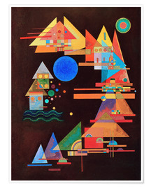 Póster Premium  Peaks in the bow - Wassily Kandinsky